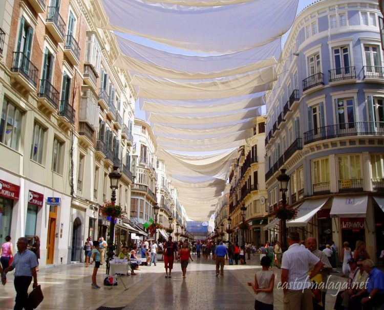 Calle Larios, Málaga in the shade
