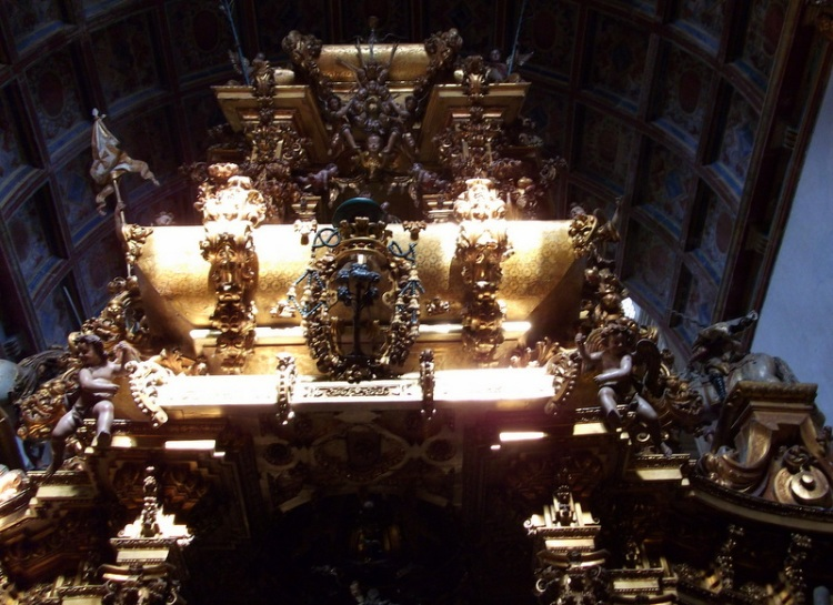 Over the altar