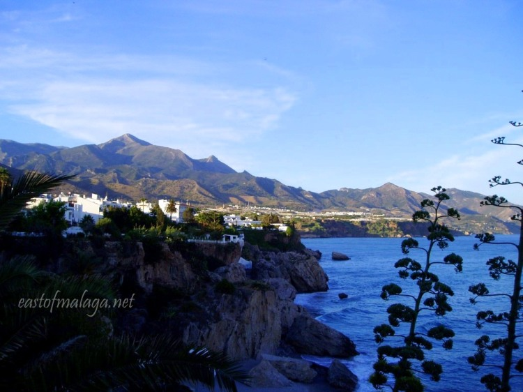 Looking east from the Balcón de Europa, Nerja