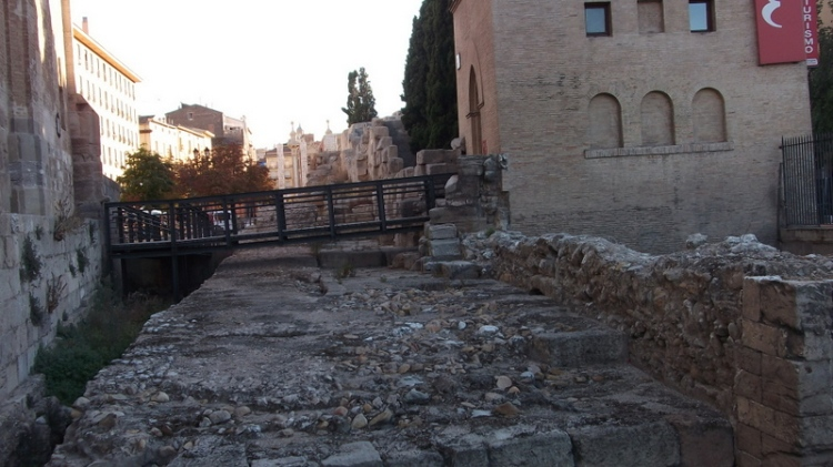 Roman walls in Zaragoza, Spain