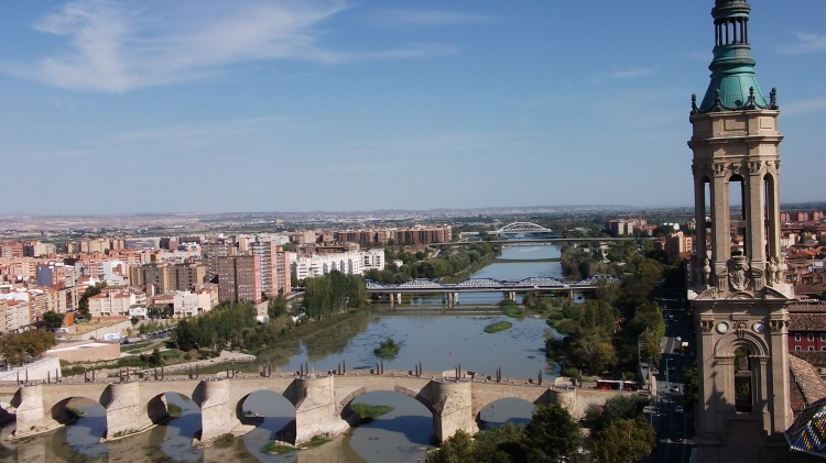 Zaragoza and the River Ebro, Spain