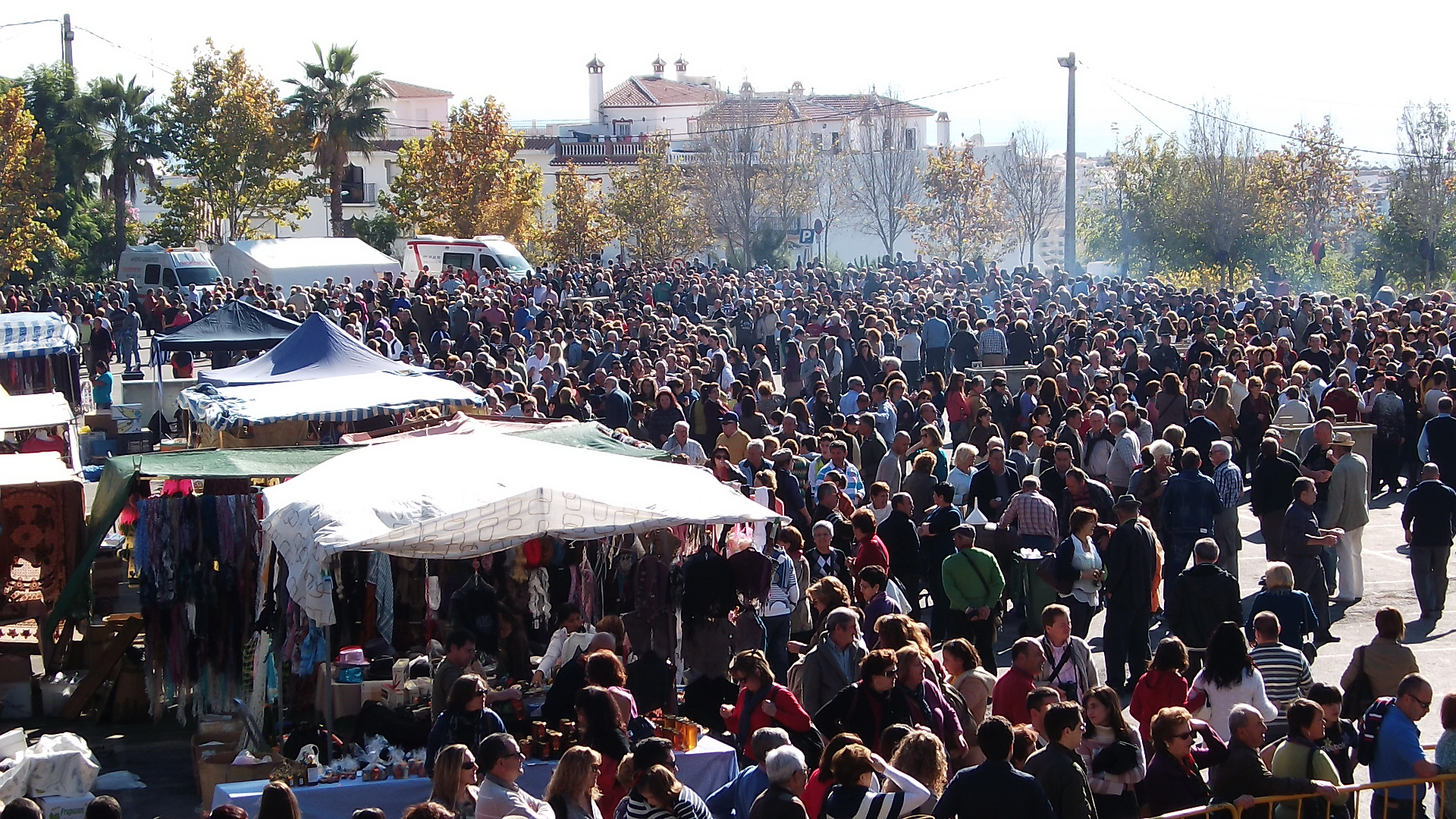 Celebration of fried breadcrumbs migas festival in torrox pueblo