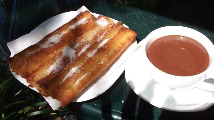 East of Malaga: Chocolate with churros