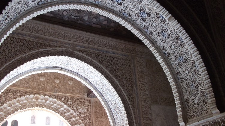 Stunning arches in the Alhambra Palace, Granada