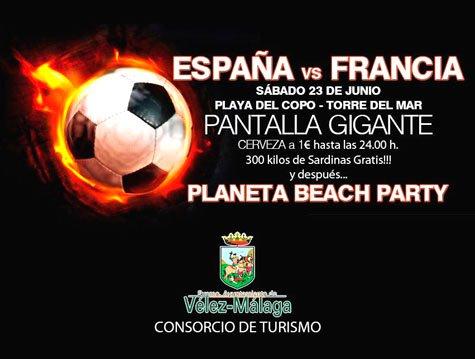 españa-francia football poster