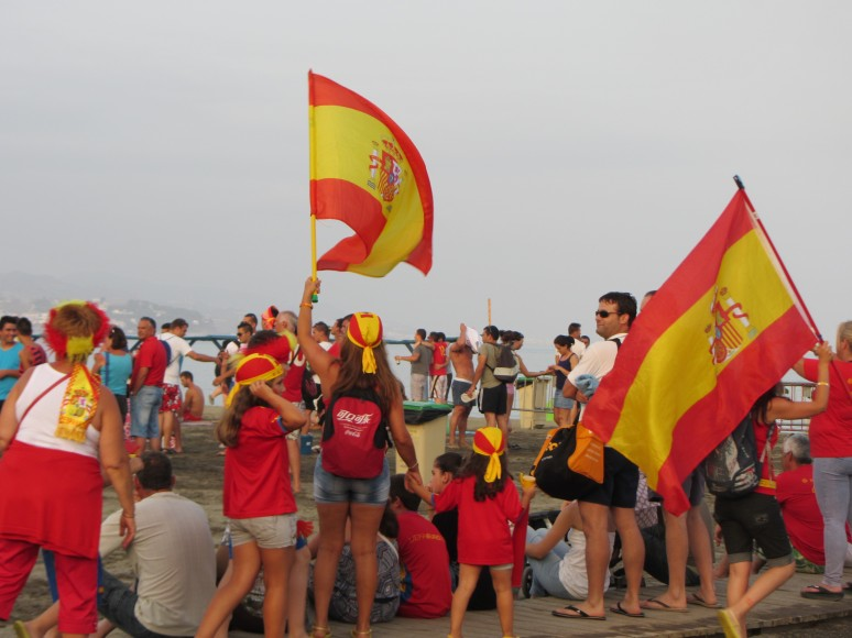 Waving the flag for Spain