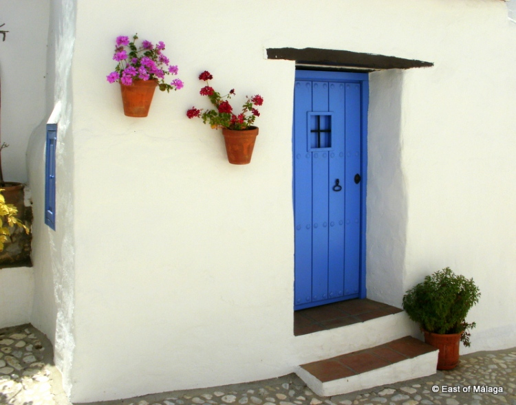 A doorway in the remote village of Acebuchal, Málaga