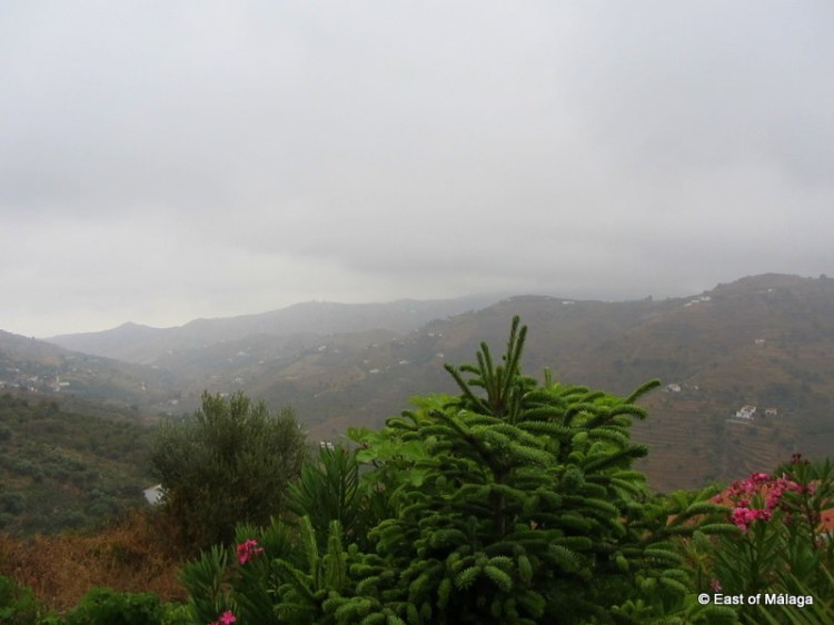 View down the valley towards the Mediterranean Sea showing fifty shades of grey!