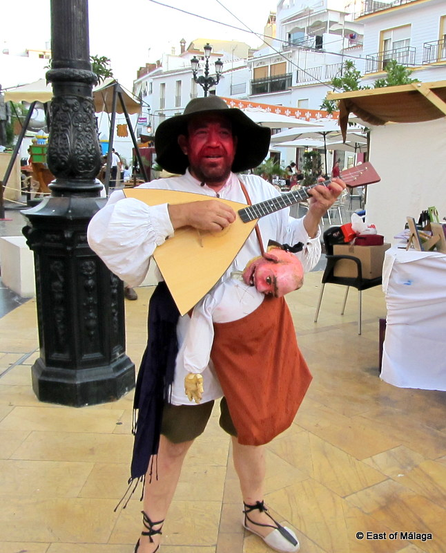 Character actor at the medieval market in Torrox pueblo