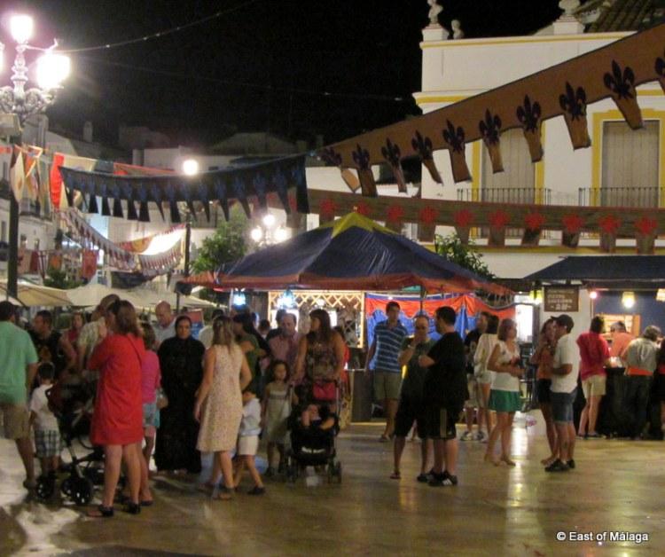 Evening falls at the medieval market, Torrox pueblo