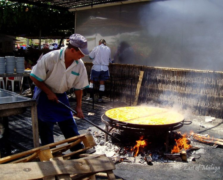 Making paella at Ayo´s restaurant, Nerja