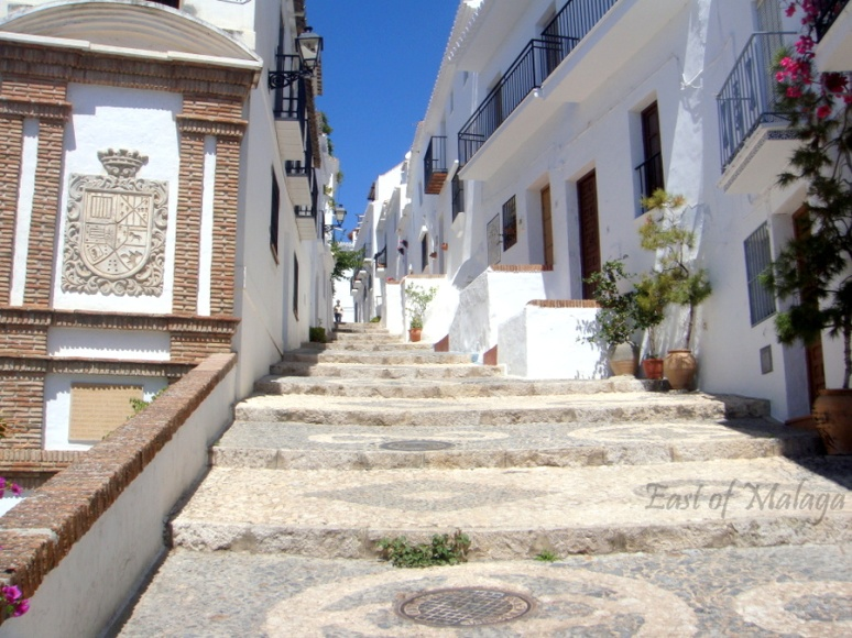 Steps leading to the upper part of the village of Frigiliana