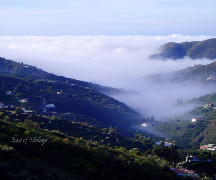 Sea mist rolling up the valley from the Mediterranean