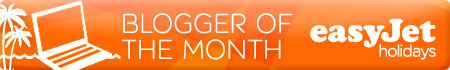 Easyjet Blogger of the month Award