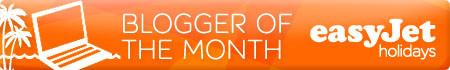 Easyjet Blogger of the month Award