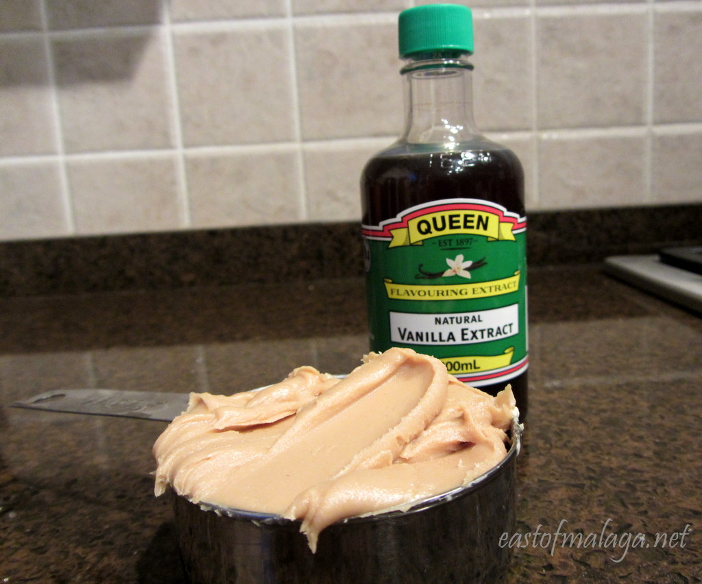 Peanut butter and vanilla extract