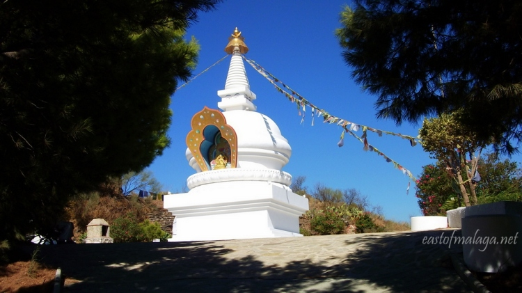 First sight of the Buddhist Stupa in Vélez-Málaga, Spain