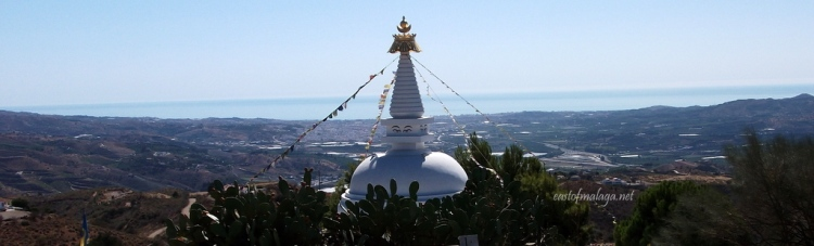 The Buddhist Stupa overlooks the eastern Costa del Sol