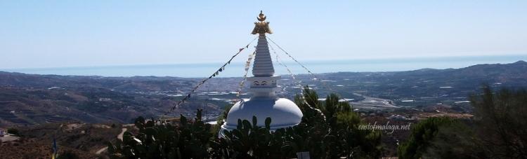 The Buddhist Stupa overlooks the eastern Costa del Sol
