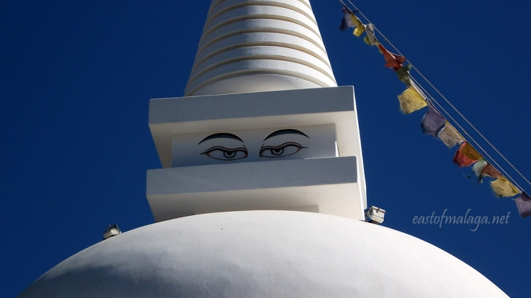 The eyes of the Buddhist Stupa, Vélez-Málaga, Spain