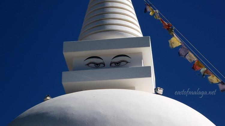 The eyes of the Buddhist Stupa, Vélez-Málaga, Spain