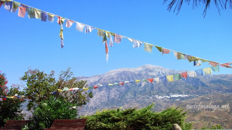 View across to Monte Maroma from the Buddhist Stupa, eastern Costa del Sol