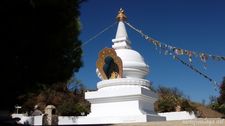 The stunning Stupa of Kalachakra at Vélez-Málaga, Spain
