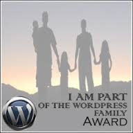´m part of the WordPress family Award
