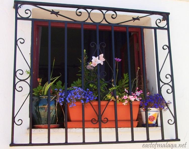 Pretty window in Cómpeta, Spain