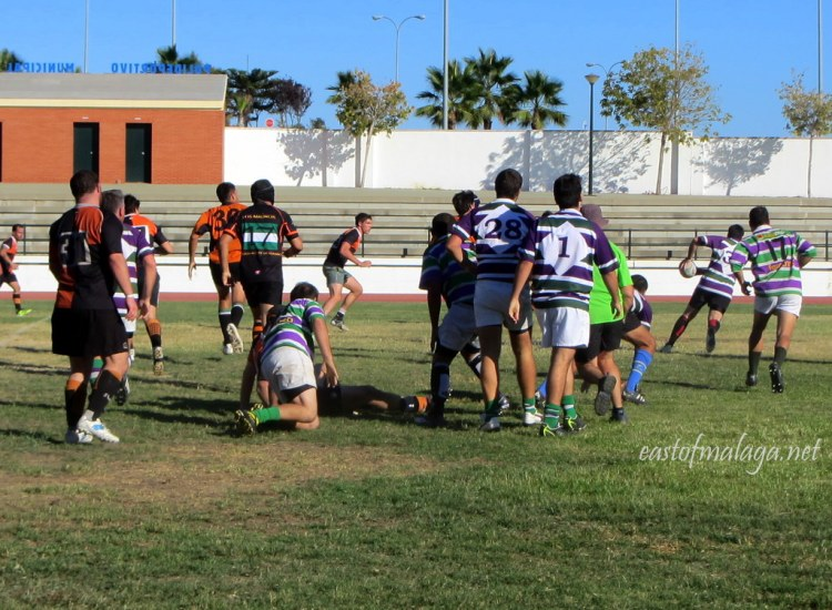 During the match at Rugby Axarquia