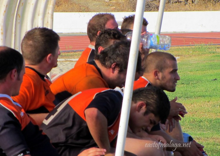 Subs Bench at Rugby Axarquia