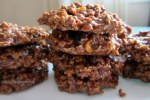 Easy No-Bake Chocolate, Peanut Butter and Oatmeal Cookies