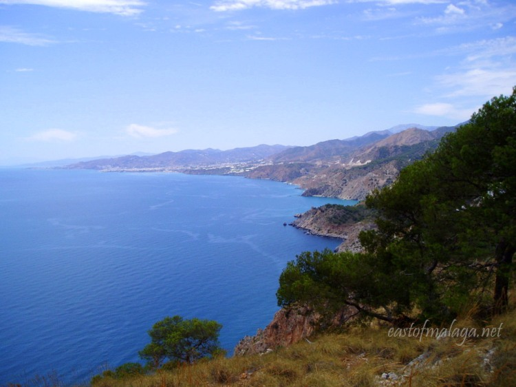 Looking at the coast, east of Málaga, Spain
