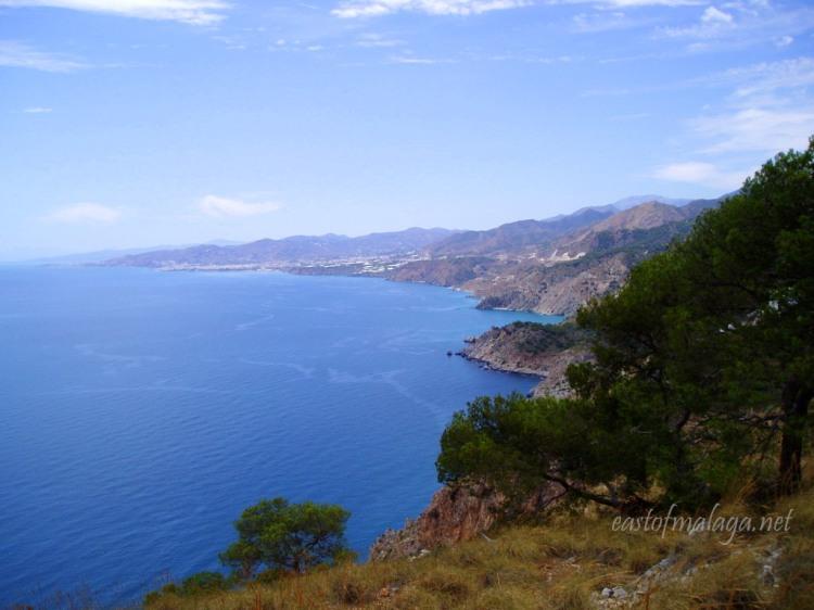 Looking at the coast, east of Málaga, Spain