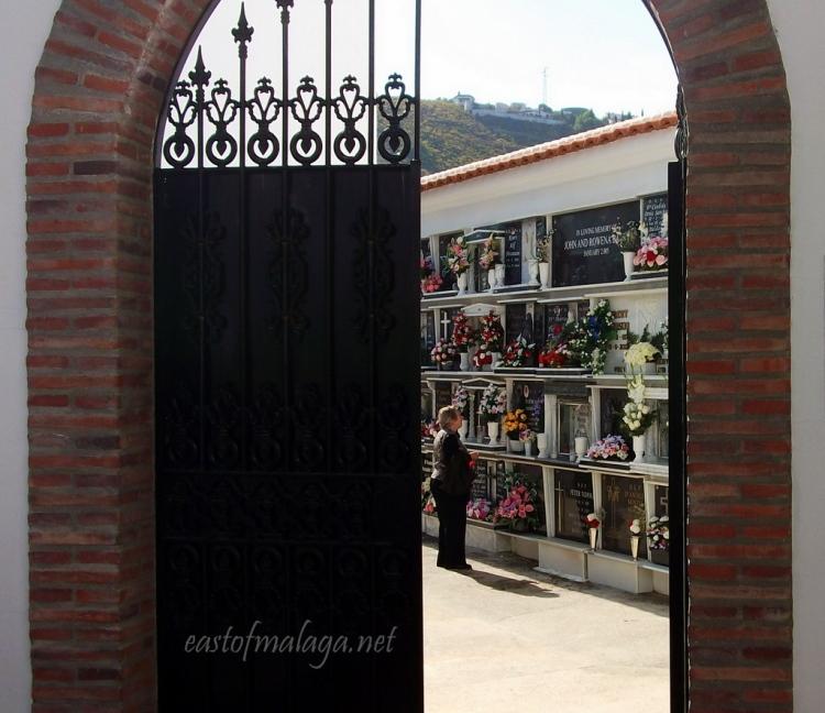 Cómpeta cemetery, Spain