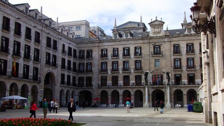 Elegant buildings in Santander, Spain