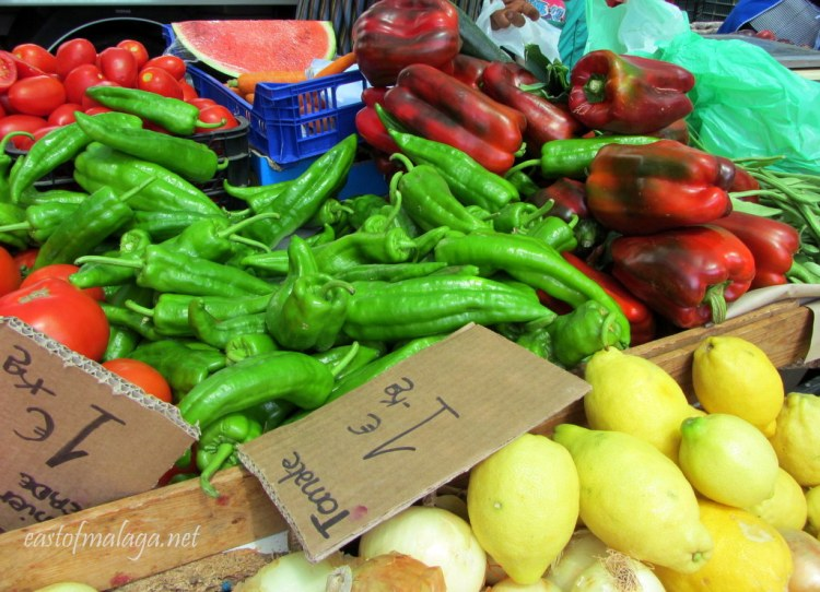 Fresh fruit and veg for sale at a Spanish streetmarket