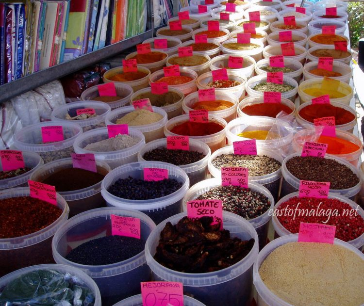 Herbs and spices at a Spanish streetmarket