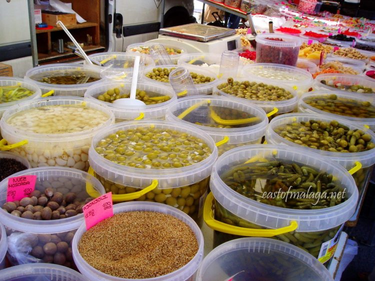 Olives for sale at Spanish market