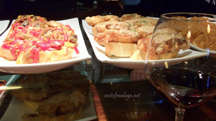 Rioja and scrummy tapas at a bar in Santander, Spain