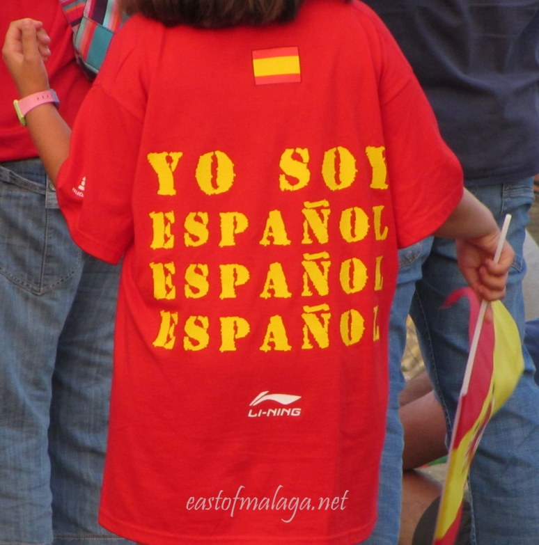 Spanish writing on tee shirt