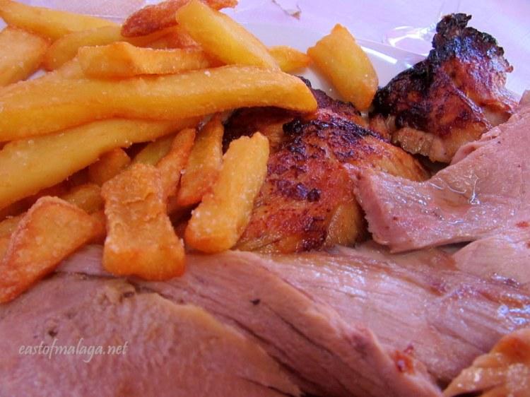 Roast pork at Ferrara Asador, Torrox Costa