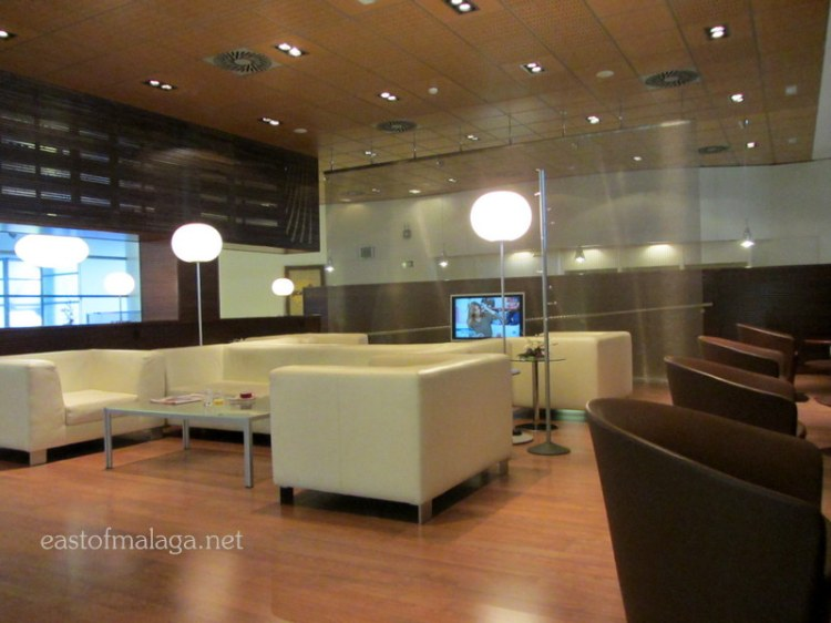 Club lounge at Malaga Railway Station, Spain