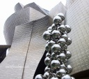 Outside Guggenheim, Bilbao, Spain