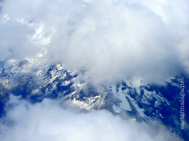 Snowy mountains over central South Island, New Zealand