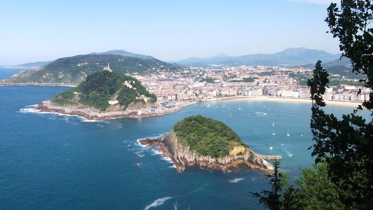 Overlooking La Concha Bay, San Sebastian, Spain