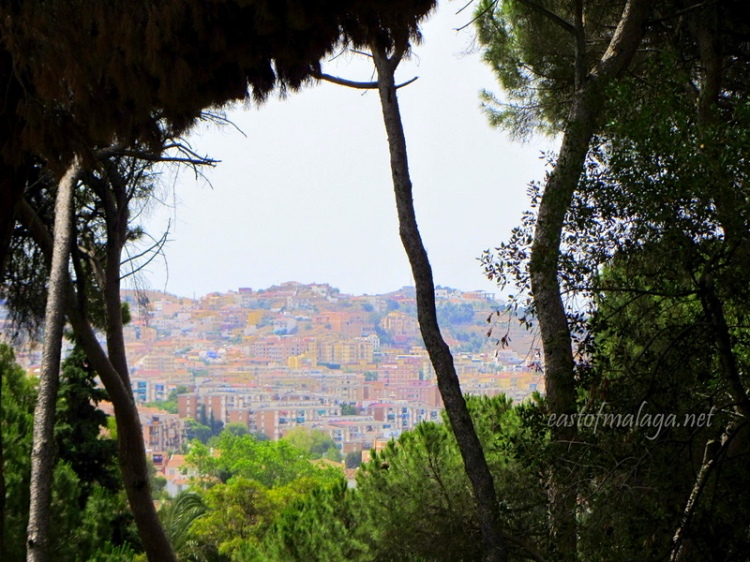 Looking from Jardin Concepcion, Malaga, Spain