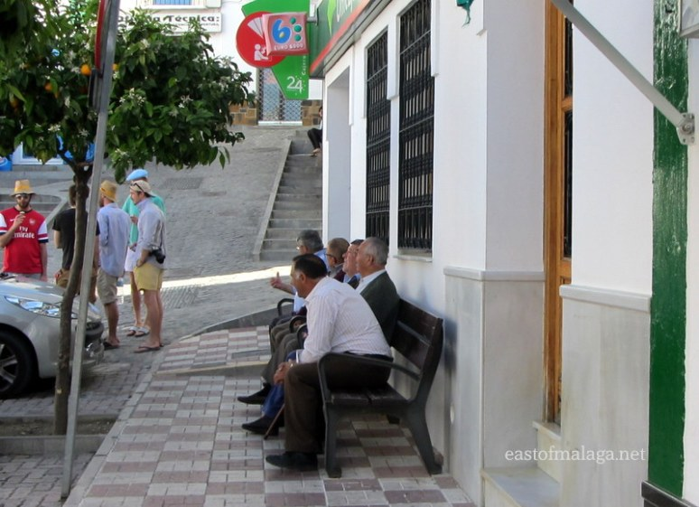 Old men sitting on a bench - Competa, Spain