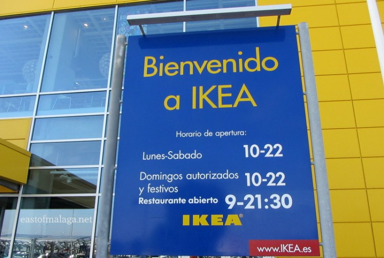 Opening hours at Ikea, Malaga