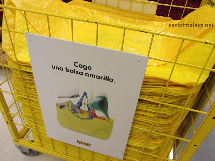 Ikea yellow bags